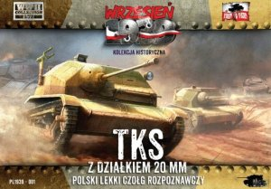 FIRST TO FIGHT 001+ - September 1939 - 1:72 TKS with NKM 20 mm metal barrel. - Magazine with included model kit - Limited edition.
