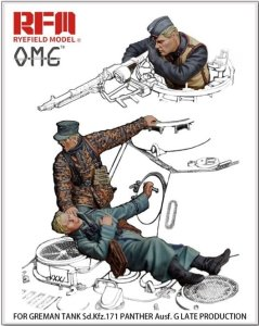 RYE FIELD MODEL OM35001 - 1:35 Figure Set for Panther G Late