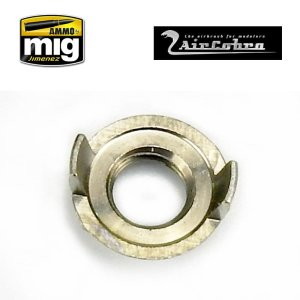 AMMO MIG 8629 - 2 pins nozzle cap guard (outer aircap nozzle guard reversible) for AirCobra and AirViper airbrush.