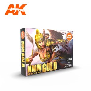 AK INTERACTIVE 11606 - Non Metallic Metal Gold - Set 6 x 17 ml