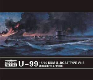 FLYHAWK 1102 - 1:700 U-boot Type VII B DKM U-99 (2 pieces)