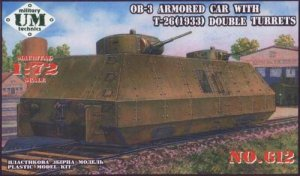 UNIMODELS 612 - 1:72 OB-3 Armored Car w.T-26 Double Turrets
