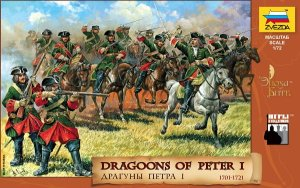 ZVEZDA 8072 - 1:72 Dragoons of Peter the Great