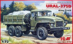 ICM 72711 - 1:72 Ural 375D , Army Truck