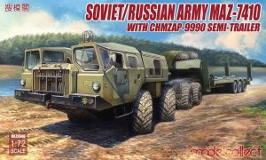 MODELCOLLECT UA72048 - 1:72 Soviet/Russian Army MAZ-7410 with ChMZAP-9990 Semi-Trailer