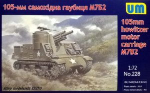 UNIMODELS 228 - 1:72 105mm howitzer motor carriage M7B2