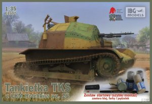 IBG E3502 - 1:35 TKS - Polish Light Reconnaissance Tank (with paint set, quick assembly type suspension)