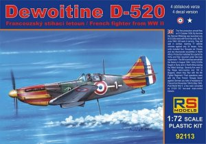 RS MODELS 92113 - 1:72 Dewoitine D-520