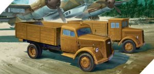 ACADEMY 13404 - 1:72 German Cargo Truck Early & Late