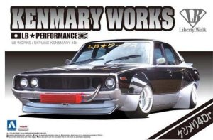 AOSHIMA 00982 - 1:24LB Works Nissan Skyline Ken & Mary 4Dr