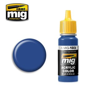 AMMO MIG 103 - Medium Blue - acrylic paint 17ml