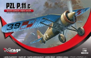 MIRAGE 48102 - 1:48 PZL P-11 c bomb version