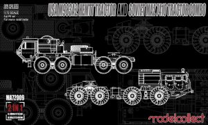 MODELCOLLECT MA72009 - 1:72 M983A2 HEMTT  and Soviet MAZ