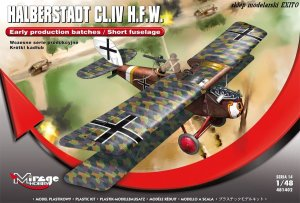MIRAGE 481402 - 1:48 Halberstadt CL.IV H.F.W. Early production batches / Short fuselage