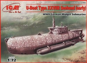 ICM S.006 - 1:72 U-boot type XXVIIB Zeehund (early) WWII German Midget Submarine