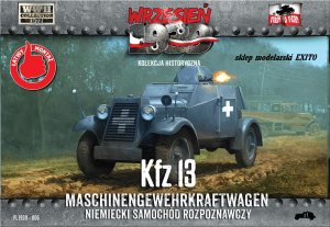 FIRST TO FIGHT 006 -  September 1939 - 1:72 Kfz.13 WW2 German Reconnaissance Car
