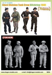DRAGON 6654 - 1:35 Ghost Division Tank Crew 1940