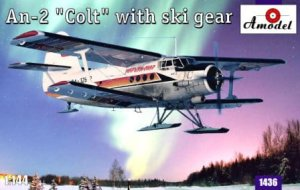 AMODEL 1436 - 1:144 Antonov An-2 Colt with ski gear