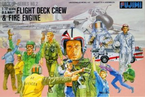 FUJIMI 350028 - 1:72 US Navy Flight Deck Crew & Fire Engine