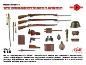 ICM 35699 - 1:35 WWI Turkich Infantry Weapons & Equipment