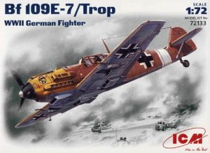 ICM 72133 - 1:72 Bf 109E-7/Trop, WWII German Fighter (tropical version)