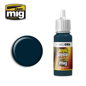 AMMO MIG 099 - Crystal Black Blue - acrylic paint 17ml