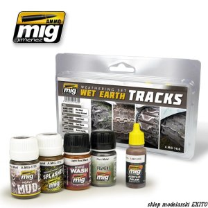 AMMO MIG 7438 - Wet Earth Tracks Weathering Set
