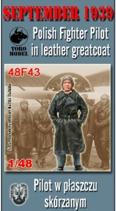 TORO MODEL 48F43 - 1:48 September 1939 - Polish fighter pilot in leather greatcoat