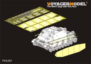 VOYAGER PEA397 - 1:35 WWII German Sturmpanzer IV Brummbar Late Version Side Skirts