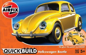 AIRFIX J6023 - VW Beetle Yellow - Quick Build