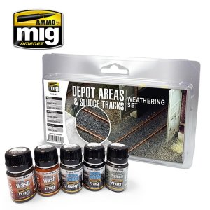 AMMO MIG 7470 - Depot Areas Sludge Tracks - Weathering Set