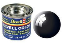 REVELL 07 - Gloss Black 14 ml