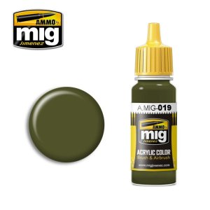 AMMO MIG 019 - 4Bo Russian Green - acrylic paint 17ml