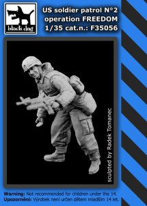 BLACK DOG F35056 - 1:35 US soldier patrol operation Freedom Nr 2
