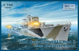 IBG 70004 - 1:700 HMS Badsworth 1941 Hunt II class destroyer escort