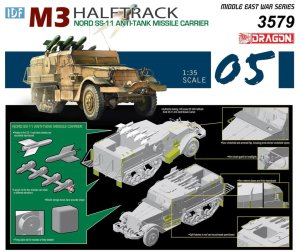 DRAGON 3579 - 1:35 IDF M3 Halftrack Nord SS-11 Anti-Tank Missile Carrier