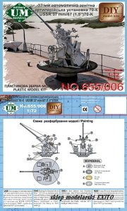UNIMODELS UM-MT 655 - 1:72 37 mm automatic gun systems in the ship's AA machine 70-K model 1940