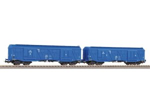 PIKO 58375 H0 - Set of 2 covered cargo cars type 401Ka PKP Cargo