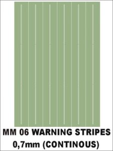 MONTEX MM06 - Warning stripes (continous) 0,7 mm