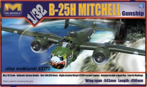 HK MODELS 01E03 - 1:32 B-25H Mitchell - Gunship