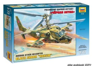 ZVEZDA 7216 - 1:72 Kamov Ka-50 Black Shark Hokum - Russian Attack Helicopter