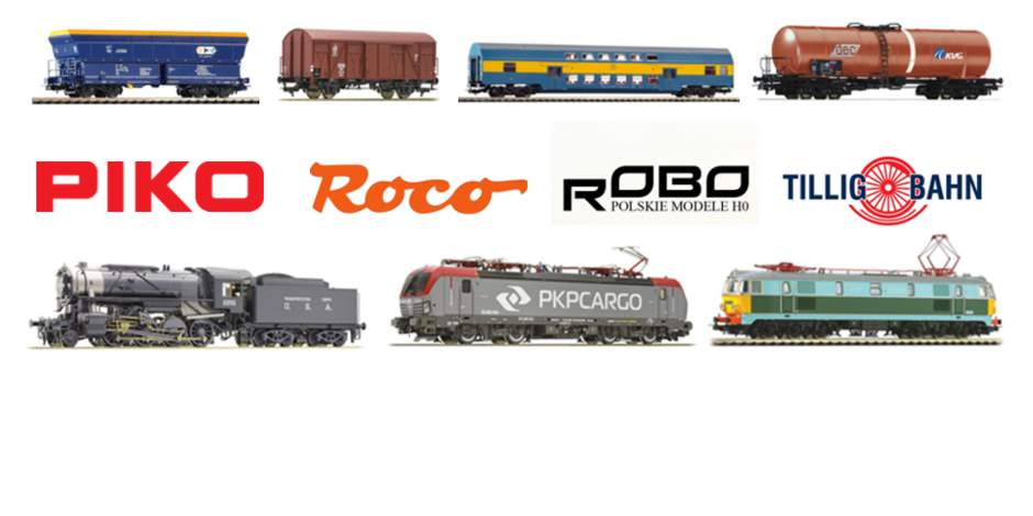 Locomotives, wagons and coaches, tracks
