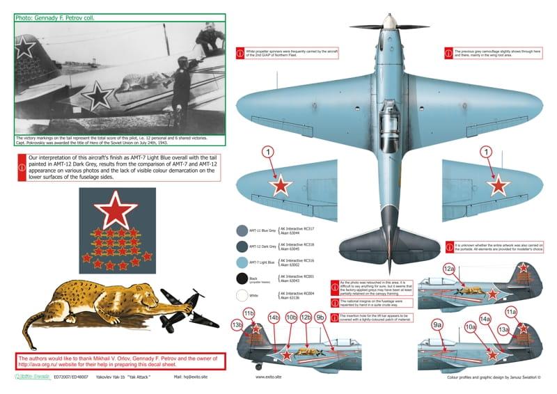 Yakovlev Yak-1 b  (Eduard L.E. réf 1126 au 1/48) de V.P. Pokrovskiy  ED48007-72007_p4