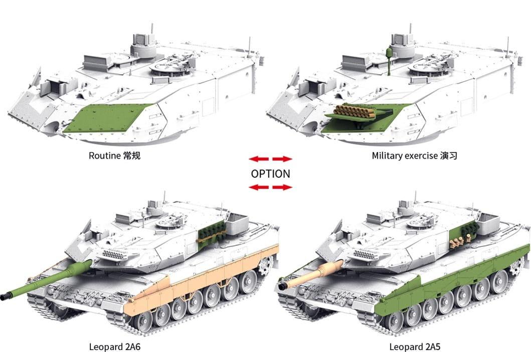BORDER TK7201 - 1:72 German MBT Leopard 2A5/A6 - Exito Model Store