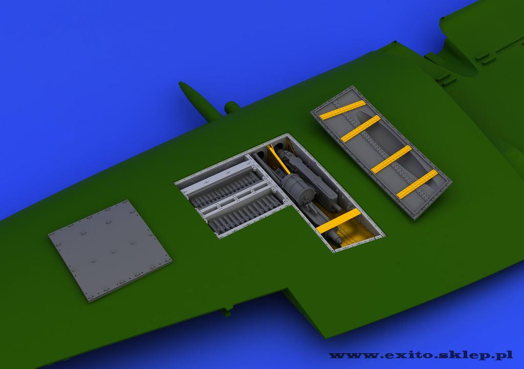 SPITFIRE GUN BAY FOR EDU 648113 EDUARD 1//48 AIRCRAFT PHOTO-ETCH /& RESIN