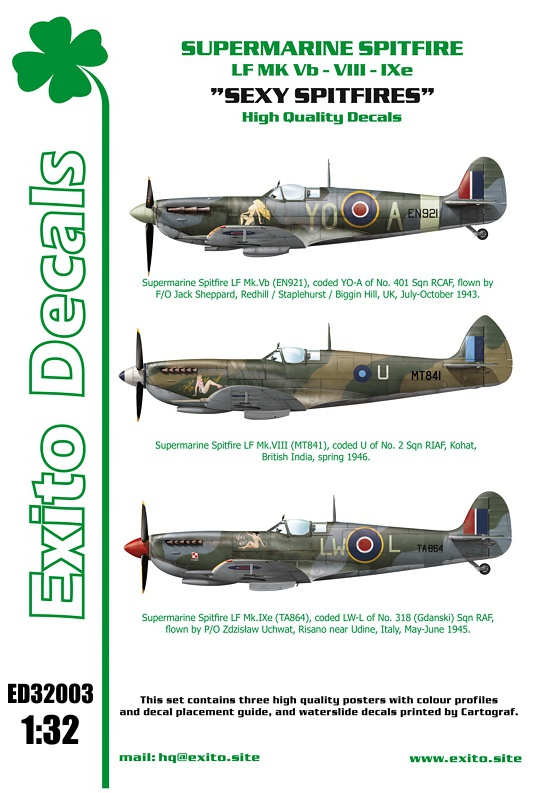 Exito Decals 1/32 Sexy Spitfires and Eastern Front Fighters