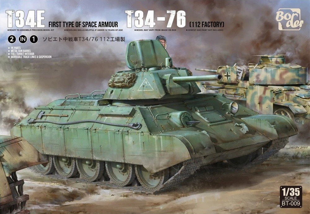 New T-34 in 1:35 scale with additional armour from Border (2 in 1)