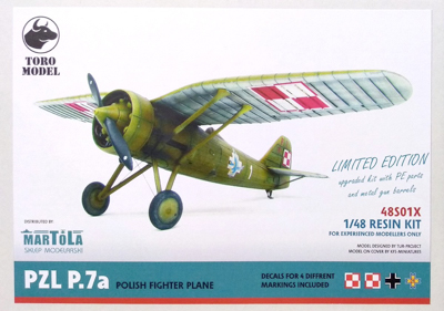 Reissued PZL P-7 model kit from Toro and other new items.